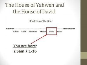 The House of Yahweh and the House of