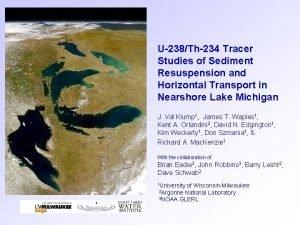 U238Th234 Tracer Studies of Sediment Resuspension and Horizontal