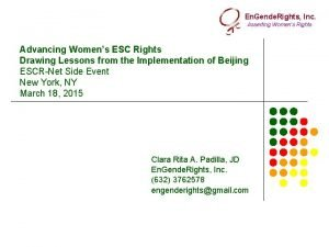 En Gende Rights Inc Asserting Womens Rights Advancing
