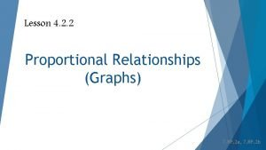 Lesson 4 2 2 Proportional Relationships Graphs 7
