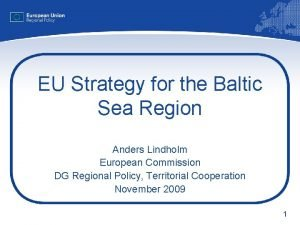 EU Strategy for the Baltic Sea Region Anders