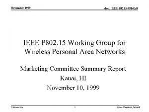 November 1999 doc IEEE 802 15 99140 r