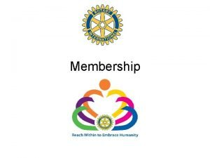 Membership Responsibility At Board level Responsibility for our