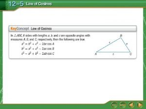 Solve a Triangle Given Two Sides and the