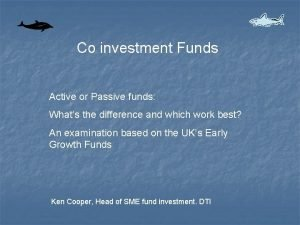 Co investment Funds Active or Passive funds Whats