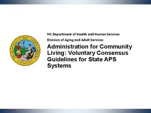 NC Department of Health and Human Services Division