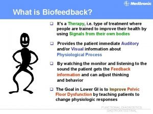 What is Biofeedback q Its a Therapy i