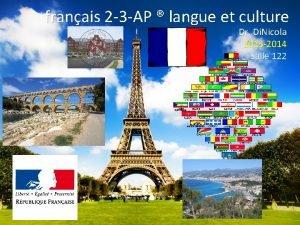 franais 2 3 AP langue et culture Dr