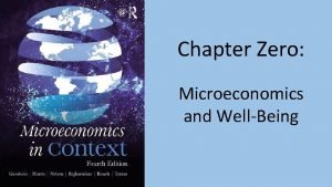 Chapter Zero Microeconomics and WellBeing 1 Income Inequality