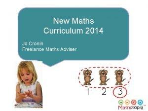 New Maths Curriculum 2014 Jo Cronin Freelance Maths