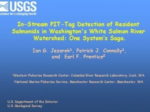InStream PITTag Detection of Resident Salmonids in Washingtons