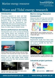 Marine energy resource Wave and Tidal energy research