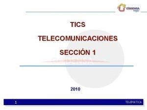 TICS TELECOMUNICACIONES SECCIN 1 2010 1 TELEMATICA TICS