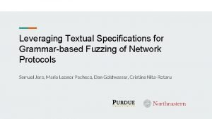 Leveraging Textual Specifications for Grammarbased Fuzzing of Network