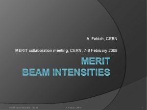 A Fabich CERN MERIT collaboration meeting CERN 7