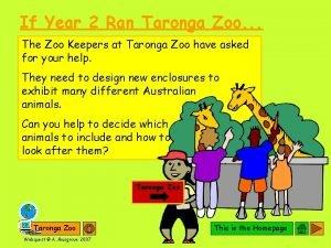 If Year 2 Ran Taronga Zoo The Zoo