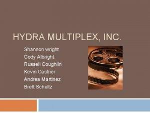 HYDRA MULTIPLEX INC Shannon wright Cody Albright Russell