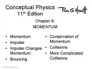 Conceptual Physics 11 th Edition Chapter 6 MOMENTUM