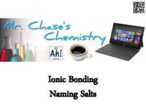 Ionic Bonding Naming Salts Ionic Bonds An ionic