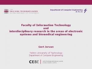 Department of Computer Engineering ati ttu ee Faculty