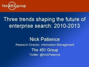 Three trends shaping the future of enterprise search