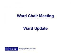 Ward Chair Meeting Ward Update Bellingham Ward Promises