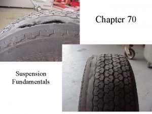Chapter 70 Suspension Fundamentals This type of suspension