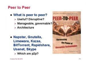 Peer to Peer l What is peer to