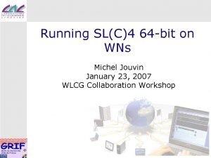 Running SLC4 64 bit on WNs Michel Jouvin