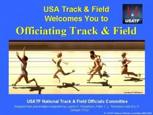 USA Track Field Welcomes You to Officiating Track