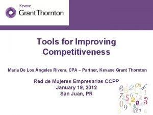 Tools for Improving Competitiveness Mara De Los ngeles
