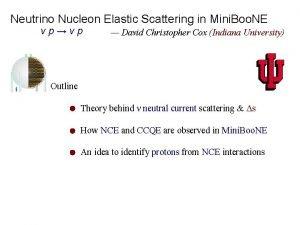 Neutrino Nucleon Elastic Scattering in Mini Boo NE