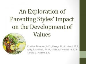 An Exploration of Parenting Styles Impact on the