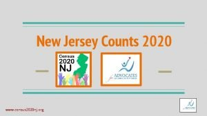 New Jersey Counts 2020 www census 2020 nj