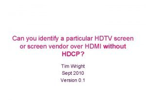 Can you identify a particular HDTV screen or