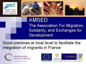 AMSED The Association For Migration Solidarity and Exchanges