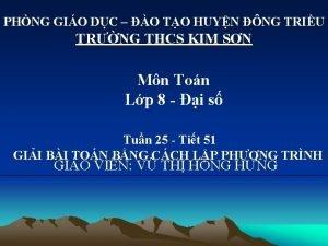 PHNG GIO DC O TO HUYN NG TRIU