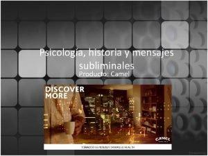 Psicologa historia y mensajes subliminales Producto Camel Historia