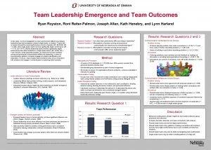 Team Leadership Emergence and Team Outcomes Ryan Royston