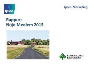 Rapport Njd Medlem 2015 Sammanfattning och nyckelresonemang 2