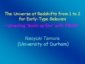 The Universe at Redshifts from 1 to 2