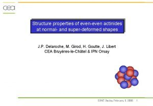 Structure properties of eveneven actinides at normal and