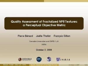 Quality Assessment of Fractalized NPR Textures a Perceptual
