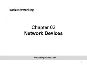 Basic Networking Chapter 02 Network Devices Ilmu JaringandotCom
