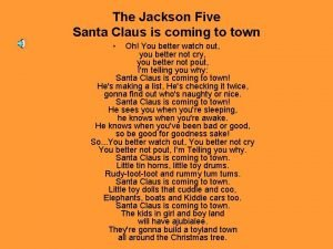 The Jackson Five Santa Claus is coming to