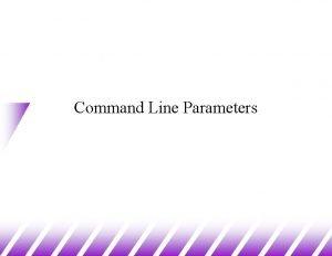 Command Line Parameters Passing Unix parameters to C