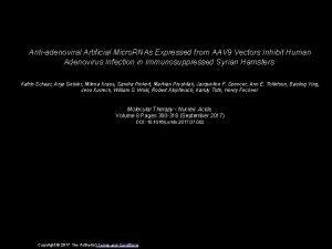Antiadenoviral Artificial Micro RNAs Expressed from AAV 9