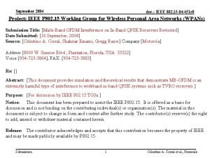 September 2004 doc IEEE 802 15 04451 r
