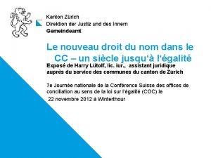 Kanton Zrich Direktion der Justiz und des Innern