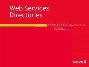 Web Services Directories W 3 C Web Services